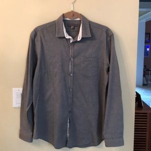 John Varvatos Gray Casual Button Down Shirt